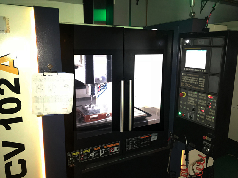 Plastics mould CNC tool cutting machine at the works